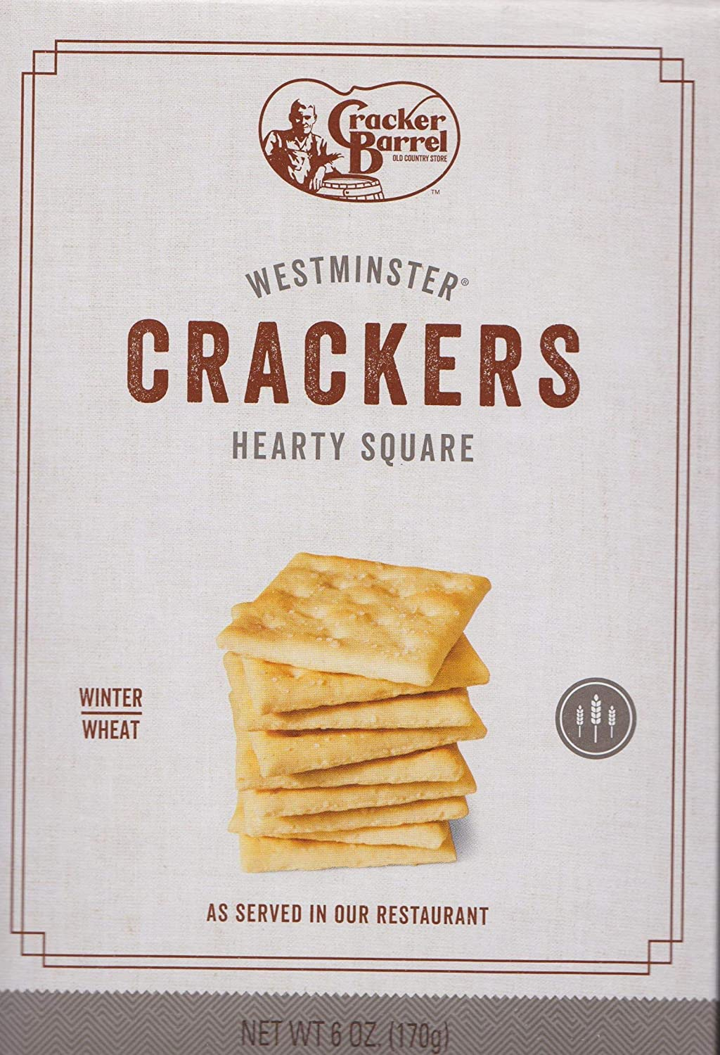 Cracker Barrel Crackers Cheap mail order sales Westminister Saltine New Free Shipping Wheat