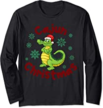 Christmas on the Bayou Cajun Gift for Bayou State Long Sleeve T-Shirt