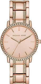 Women's Melissa Three-Hand Rose Gold-Tone Alloy Watch MK4391