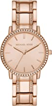 Michael Kors Women's Melissa Quartz Watch with Stainless-Steel-Plated Strap, Rose Gold, 18 (Model: MK3538)