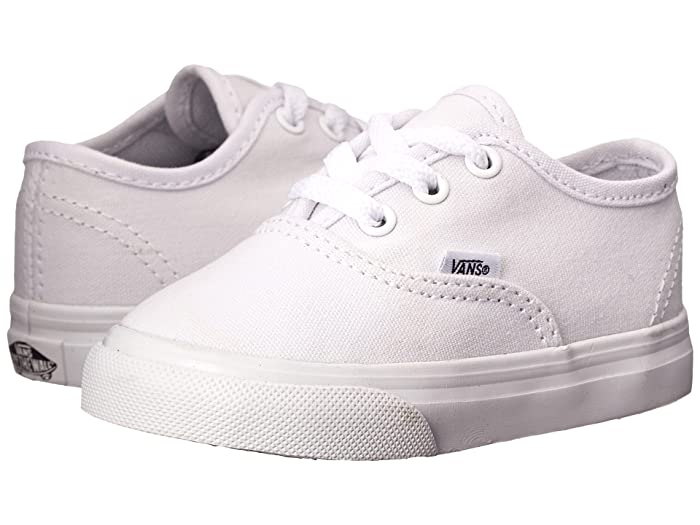 Vans Kids  Authentic Core (Toddler) (True White) Kids Shoes