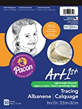 Tracing Paper Pad, 9 x 12 Inches, 50 Sheets (2312) (Cover May Vary)