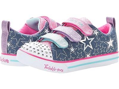 SKECHERS KIDS Twinkle Toes Sparkle Lite Stars The Limit 314036L (Little Kid/Big Kid) (Denim/Multi) Girl