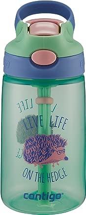 ContigoGizmo Water Bottle, 14 oz, Mint Chip with Hedgehog