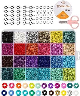 Perles de rocaille en verre, petites perles de poney assortiespour Fabrication de Bijoux Bracelets Colliers Serre-Tête Cad...