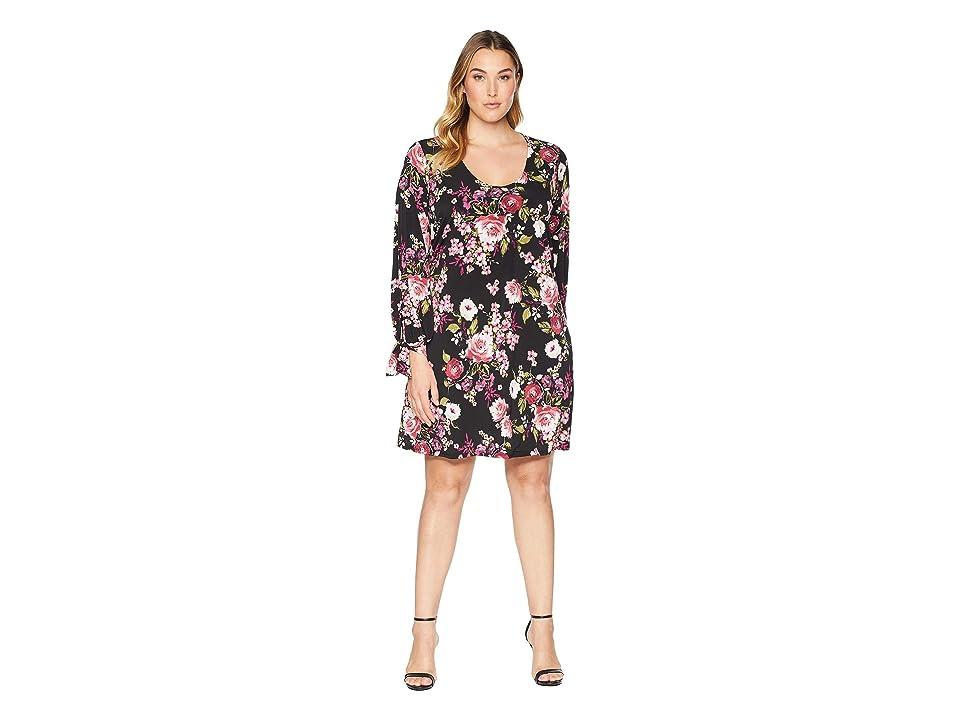 Karen Kane Plus Plus Size Tie-Sleeve Taylor Dress (Print) Women