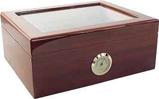 Savoy Mahogany Medium Glass Top Humidor