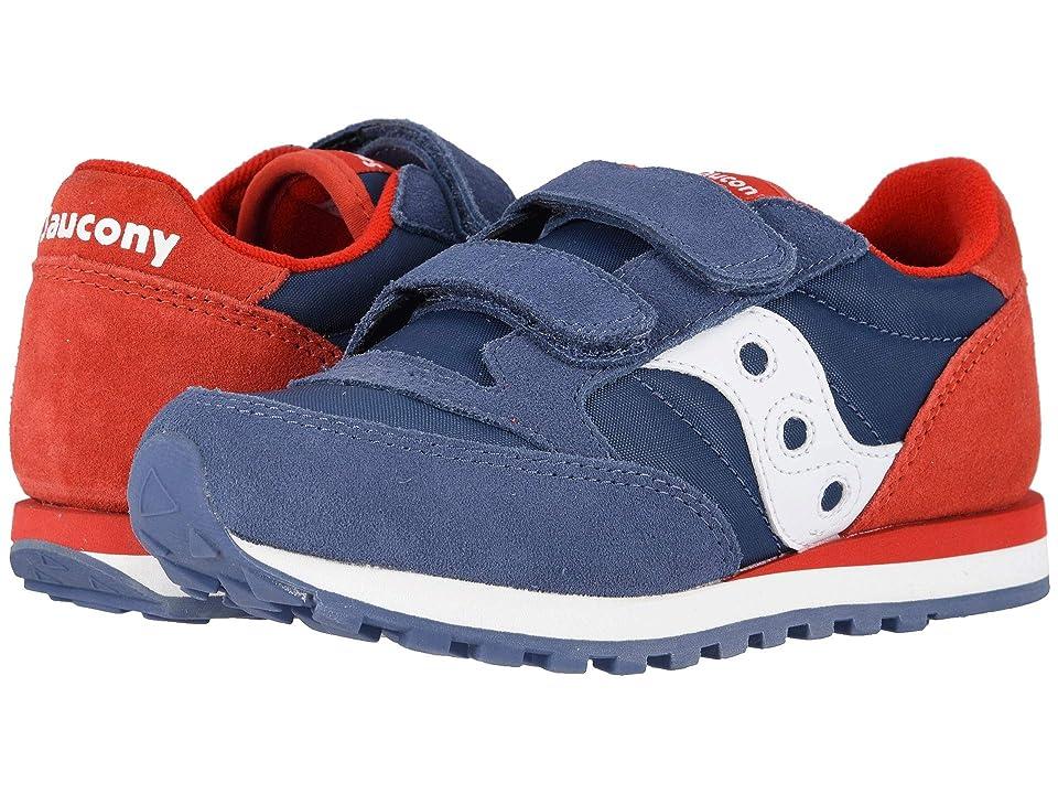 Saucony Kids Originals Jazz Double Hook Loop (Little Kid) (Blue/Red) Boys Shoes