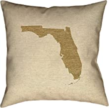 ArtVerse Katelyn Smith 26 بوصة × 26 بوصة بولي حك طباعة مزدوجة الجانبين مع سحاب مخفي ووسادة قماشية من Florida