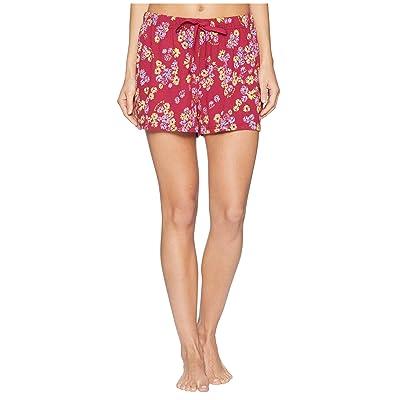 Life is Good Knit Sleep Shorts (Wild Cherry) Women