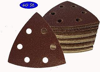 SBS - Juego de 60 triángulos de lija para lijadora Delta (