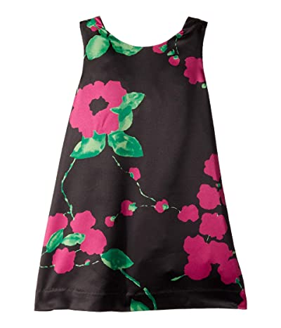 Milly Minis Kat Bow Back Shift Dress (Toddler/Little Kids) (Black/Magenta) Girl