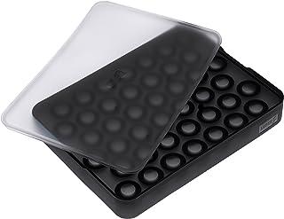 Lurch Ice Former 高级制冰盒,硅胶材质,带盖,可制 42 个 2 厘米的冰球,黑色,3.5 x 15.5 x 20.5 厘米