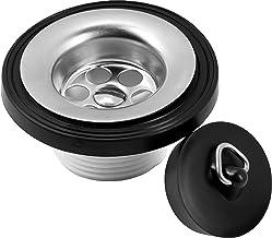 Cornat Afvoerventiel voor wastafels - 1 1/4 inch AG - met bijpassende ventieldop Ø 38,5 mm - Made in Germany kwaliteit/afv...