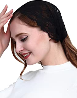 Vintage French Lace Headband Soft Headwrap Head Covering Church Veil H2