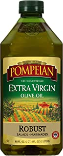 Pompeian Robust Extra Virgin Olive Oil, First Cold Pressed, Full-Bodied Flavor, Perfect for Salad Dressings & Marinades, 6...
