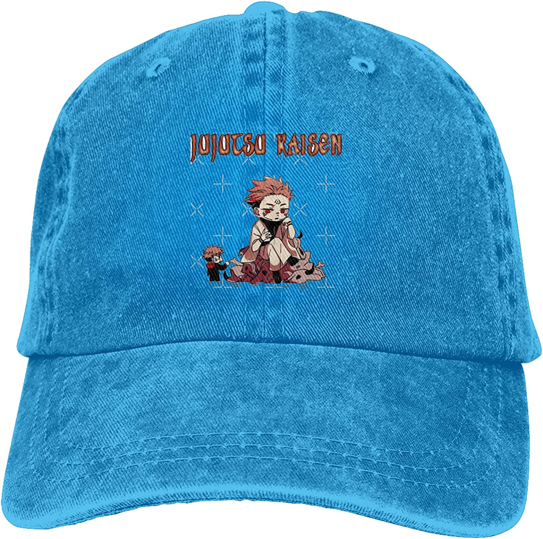 Jujutsu Kaisen Unisex Adult Cowboy Hat Classic Curved Brim Hat Freely Adjustable Cap Black