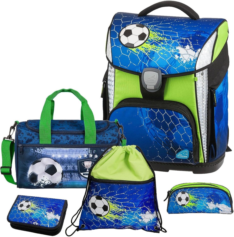 Soccer Champ - Fußball Football - Schneiders LED-TOOLBAG Plus Plus Plus mit LED-LEUCHTSYSTEM Schulranzen-Set 5tlg mit Sporttasche - 78324-074 B07BNTDNQG | Ausgezeichnete Leistung  0384de