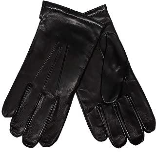 Grandoe Cire Men's Leather Sensor Touch Gloves, v.5.0, 100% sheepskin Leather & 100% Cashmere Lined, Black, Medium