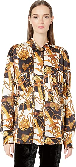 Royal Equestry Print Top