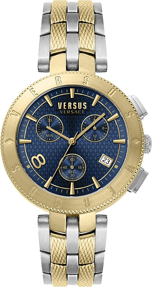 Versus by versace orologio cronografo da uomo in acciaio inossidabile VSP763218