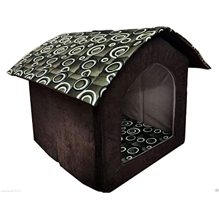 Ocean Wave Fabric Dog House Hut Shape for Small Size Dogs