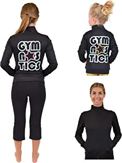 Stretch Is Comfort Girl's and Women's Glitter Gymnastics Jacket
