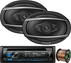 Pioneer DEH-S4100BT in-Dash Single-DIN CD Player Bluetooth Receiver, 2 x Pioneer TS-A6960F 6x9 4-Way 450W Car Audio Speakers, Enrock Audio 16-Gauge 50Ft. CCA Speaker Wire