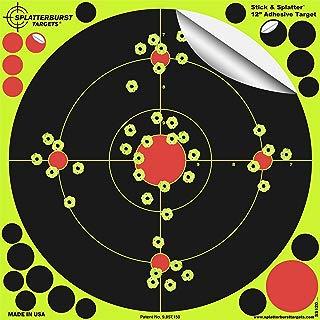 Splatterburst Targets -12 inch Stick & Splatter Reactive Self Adhesive Shooting Targets - Gun - Rifle - Pistol - Airsoft - BB Gun - Pellet Gun - Air Rifle