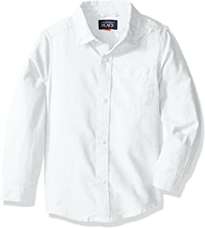 Baby Boys' Uniform Solid Long Sleeve Oxford Shirt
