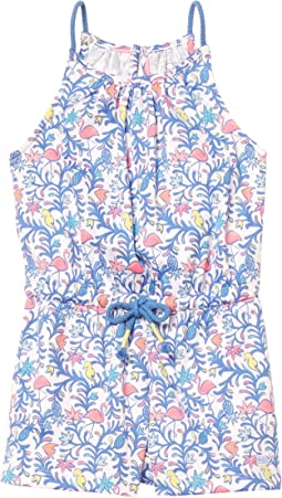 Floral Flamingos Knit Romper (Toddler/Little Kids/Big Kids)