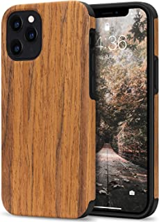 Tasikar Compatible with iPhone 12 Case/iPhone 12 Pro Case Easy Grip with Wood Grain Design Slim Hybrid Case Compatible for...
