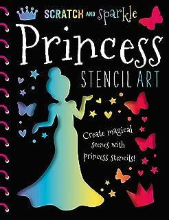 Scratch and Sparkle Princess Stencil Art