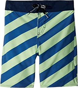 Volcom Kids - Stripey Elastic Boardshorts (Toddler/Little Kids)