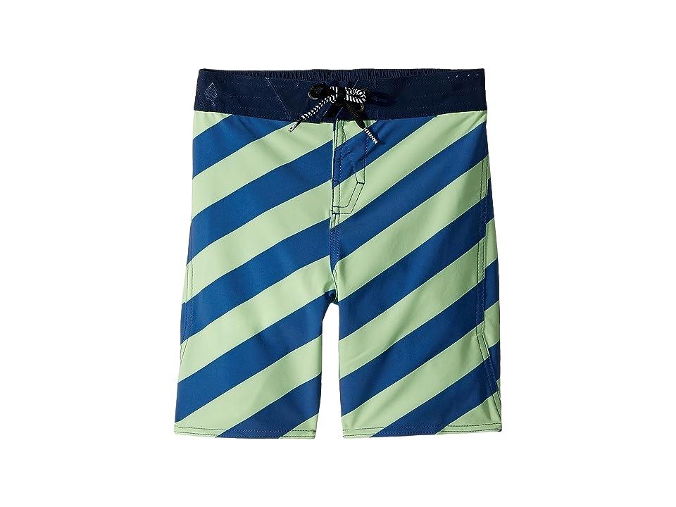 Volcom Kids Stripey Elastic Boardshorts (Toddler/Little Kids) (Strobe Green) Boy