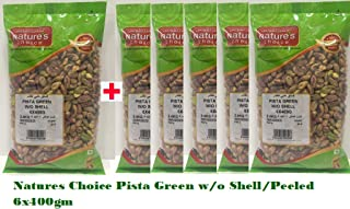 Natures Choice Pista Green W/o Shell (Peeled) - 6x400gm