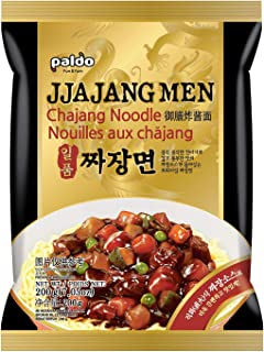 Paldo Fun & Yum Ilpoom Jjajangmen Noodles, Pack of 8, Traditional Brothless Chajang Ramen with Savory & Sweet Black Bean Sauce, Best Oriental Style Korean Ramyun, Soupless K-Food, ?? ??? 200g x 8