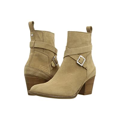 Hunter Refined Strap Boot Suede (Pale Sand) Women