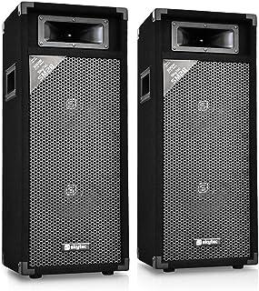 Pareja de altavoces de sonido profesional Skytec SM28 2x20cm 500W PA-Box
