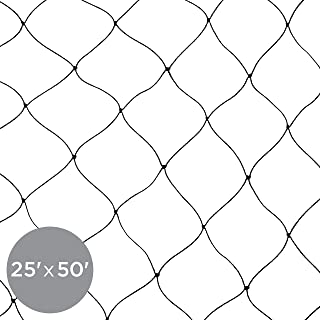 Best Choice Products 25x50ft Multi-Filament Protective Square Mesh Bird Netting for Birds, Poultry, Game, Garden, Yard, and Pens - Black