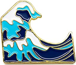 YUTTALIA 和風 ピンバッチ 浮世絵 葛飾 北斎 波 ピンバッジ (七宝焼) ピンズ ブローチ バッチ