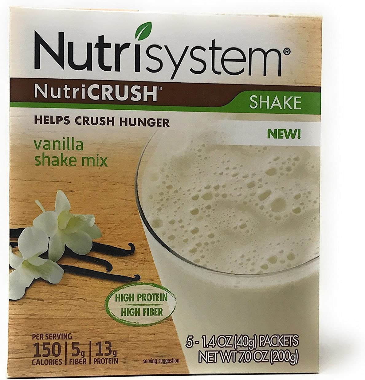 Nutrisystem NutriCRUSH Vanilla Price reduction Shake Mix 1.4 oz Nut by 5 count Super special price