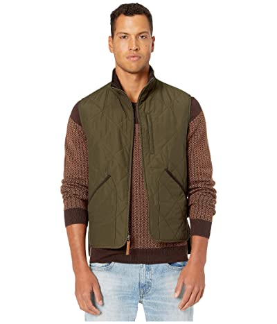 J.Crew Sussex Quilted Vest (Evergreen Moss) Men