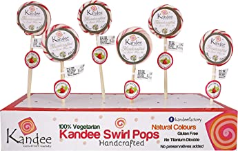 Kandee Swirl Pops Strawberry (Natural Colour) Pack of 6