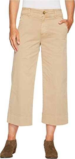 Wide Leg Crop Pants in Khaki