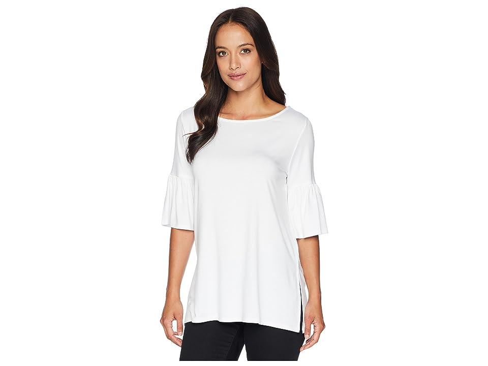 Karen Kane Side Slit Flare Sleeve Top (Off-White) Women