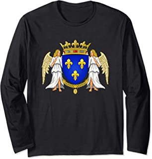 House of Valois Coat of Arms Capetian Dynasty Capet History Long Sleeve T-Shirt