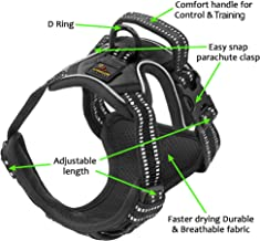 Elbert Mountain Dog Harness No Pull No Choke Adjustable Vest, Car Safety, Easy Control for Walking Hiking, 3M Reflective Oxford Material, Durable, Breathable - Small, Medium, Large, XL Dog & Puppy