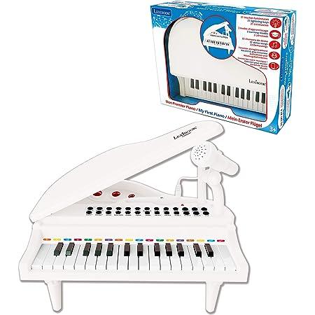 Lexibook-Mon Premier Piano pour Enfants, Touches Lumineuses, Fonction Enregistrement, Ajustement Tempo et Volume, 29cm, Lecteur Audio MP3, 3+, K731
