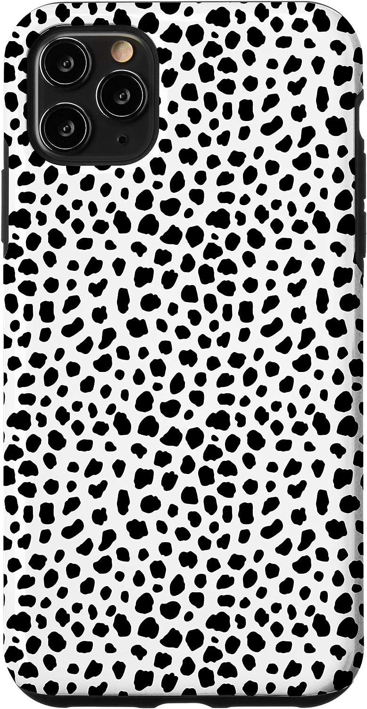 iPhone 20 Pro Max Dalmatian Print Black Spots Pattern Dog Art Print Gift  Case